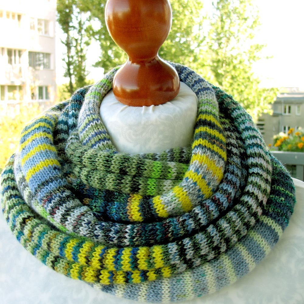 New Item, The Yellow-Green/Blue SSScarf (the SSSnake SSSleeping Bag), OOAK, Ready to Ship