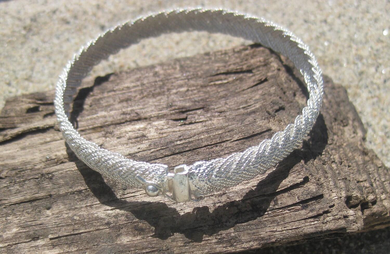 Braided Silver Fulani Style Bracelet