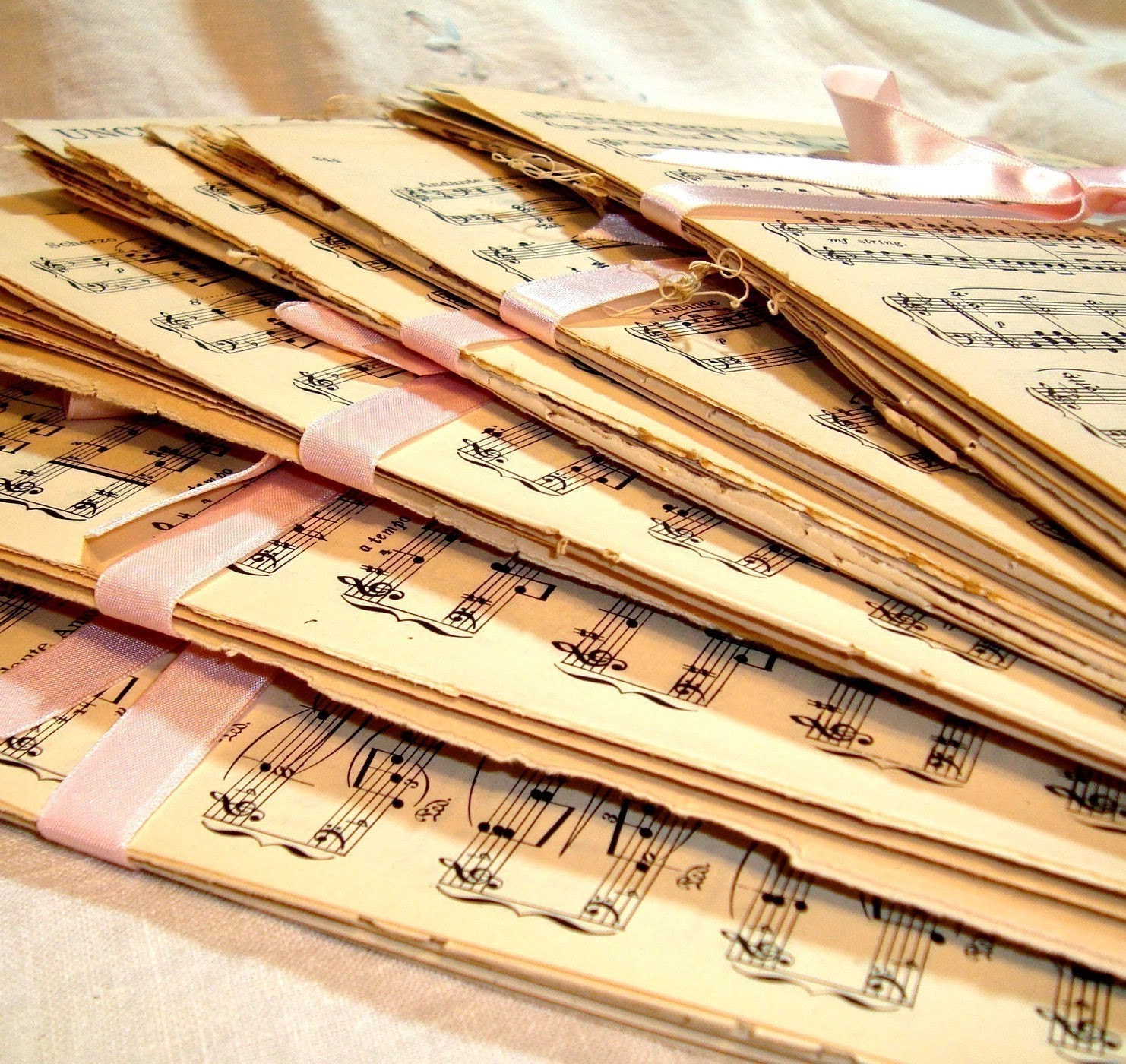 Vintage Sheet Music Paper Pack - 20 Sheets Great Mix - katieblue