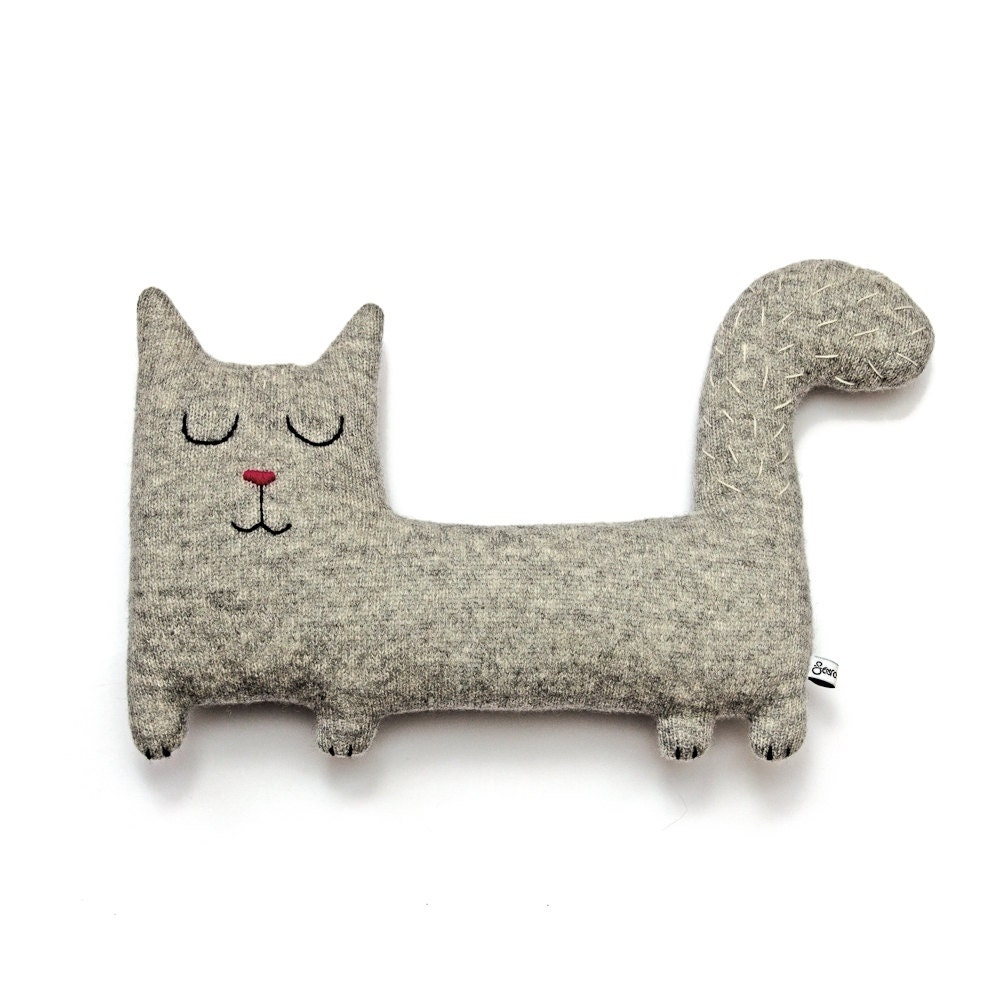 Jerry the Cat Lambswool Plush - Made to order - saracarr