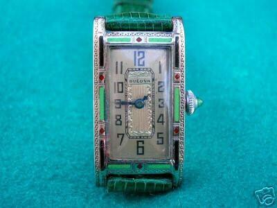 Deco Original on Art Deco Original Bulova  Miss America  Wrist Watch With Enamel