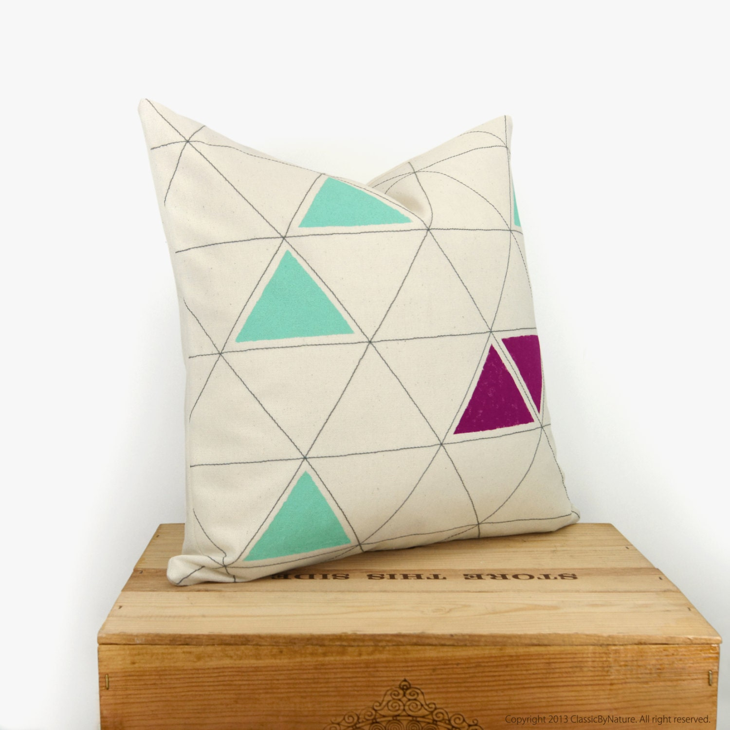 Triangle decorative pillow 16x16 pillow cover by ClassicByNature