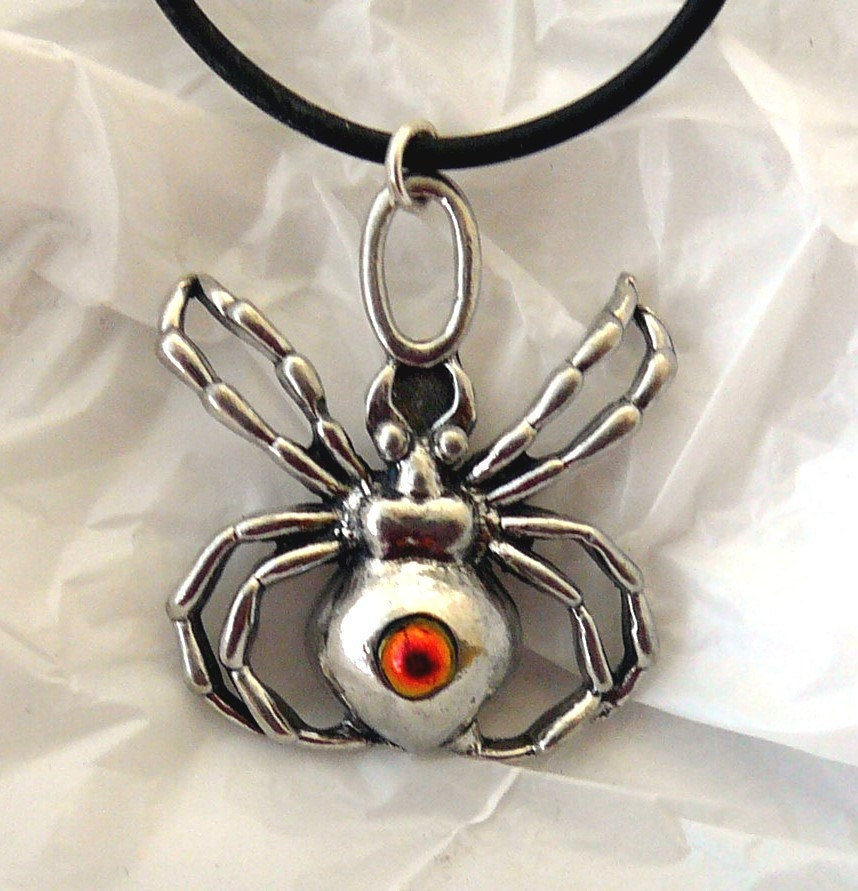 Spider Dichroic Glass Pendant & Necklace