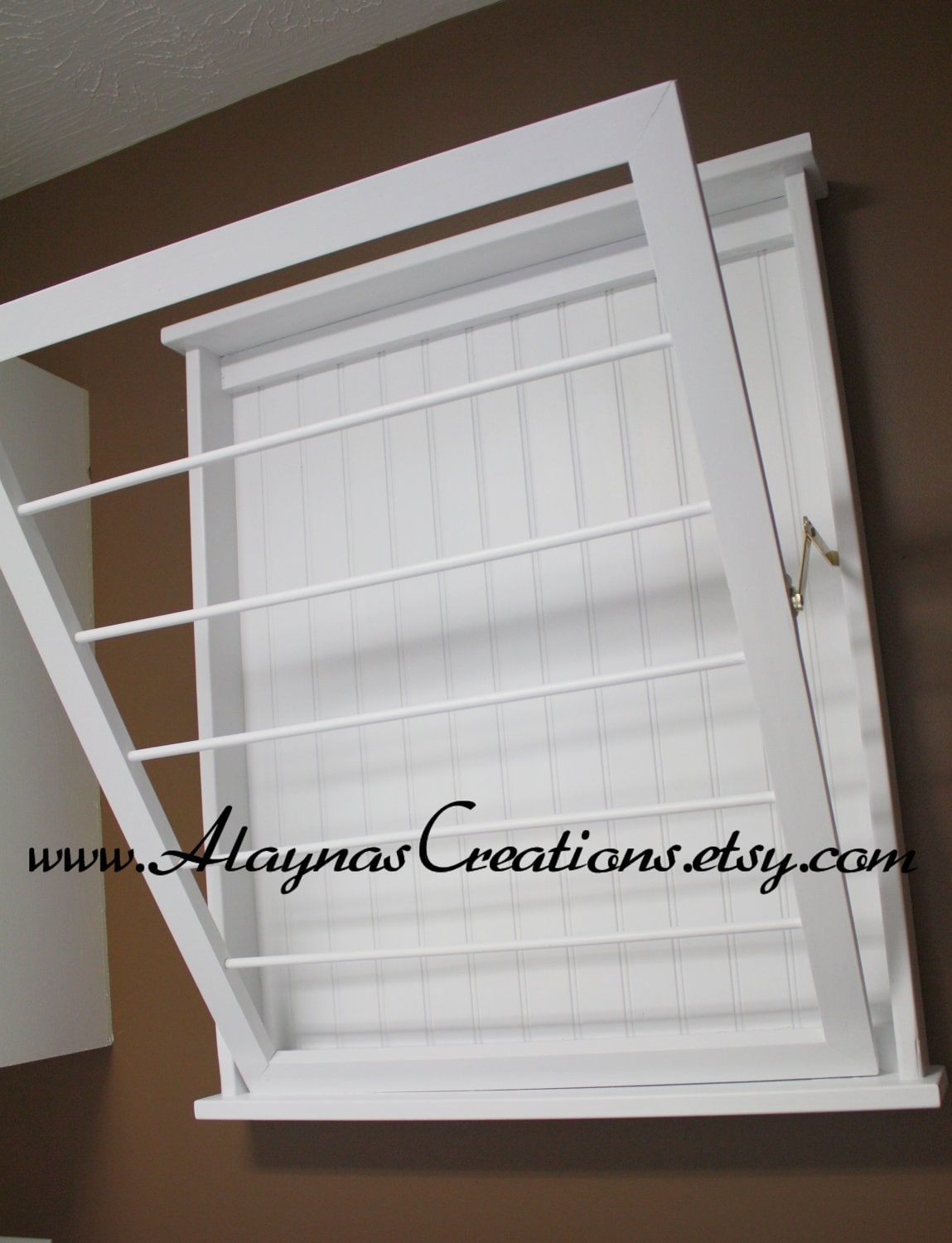 Wall Mounted Laundry Drying Rack by AlaynasCreations on Etsy