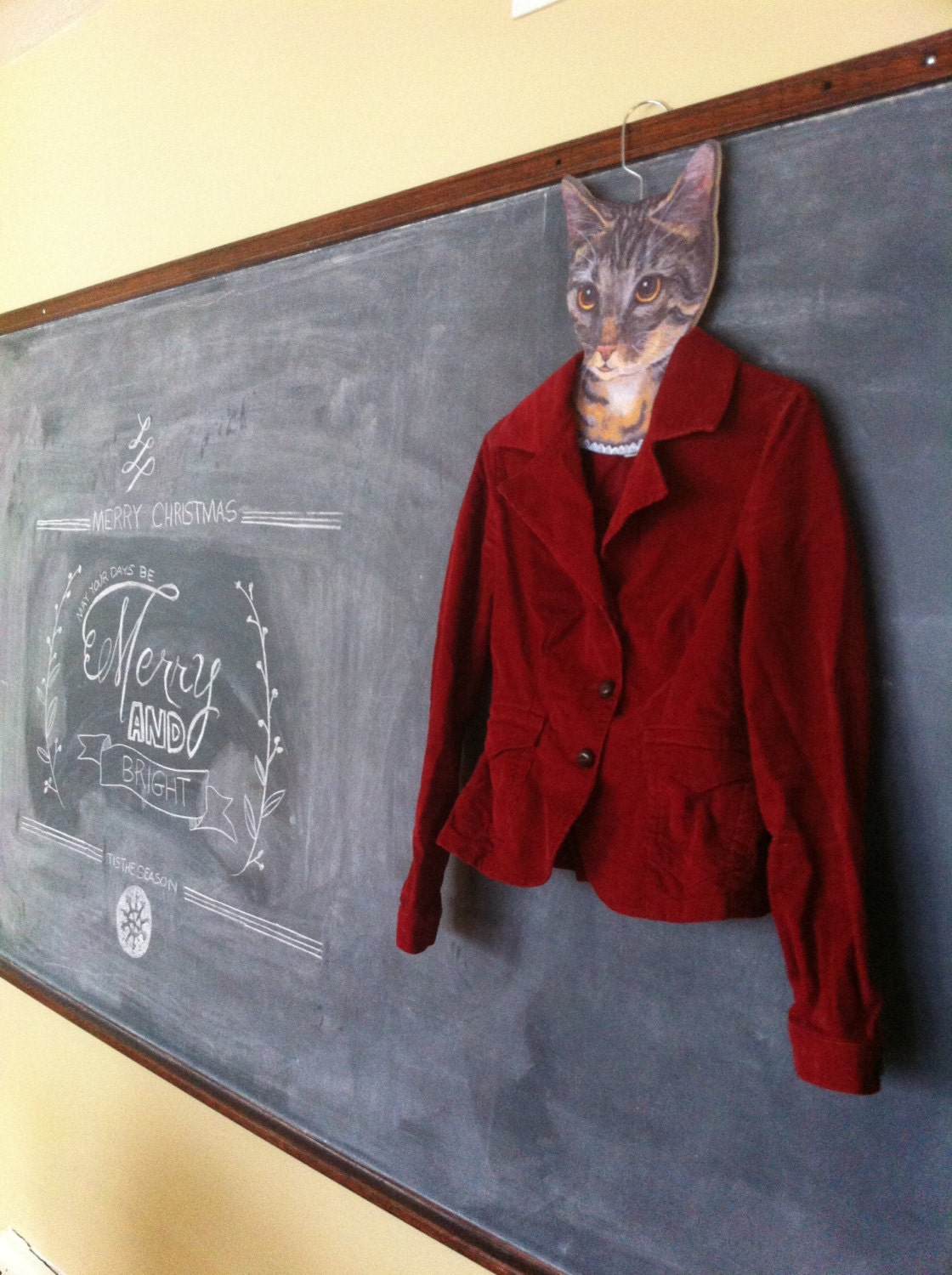 Vintage Red Fitted Corduroy Jacket - Size 4 - TheRusticOwl