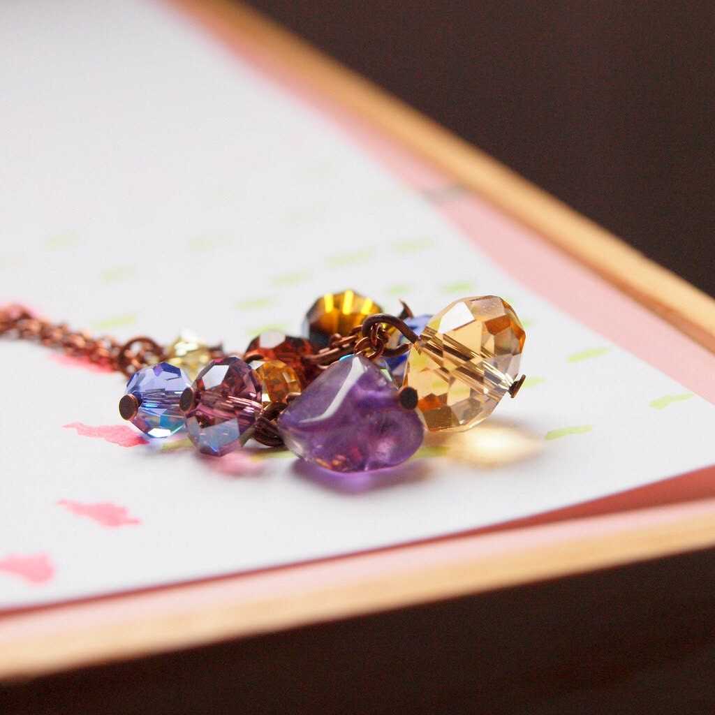 purple champagne necklace