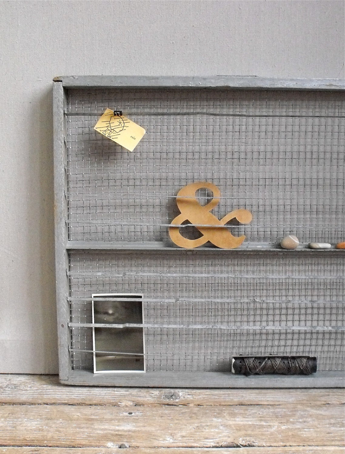 Vintage Industrial Egg Rack : Repurposed Wall Organization - solsticehome