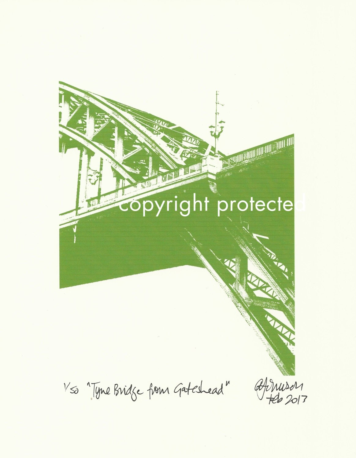 Limited Edition Print: The Tyne Bridge from Gateshead, Newcastle Upon Tyne / Gateshead, England, UK