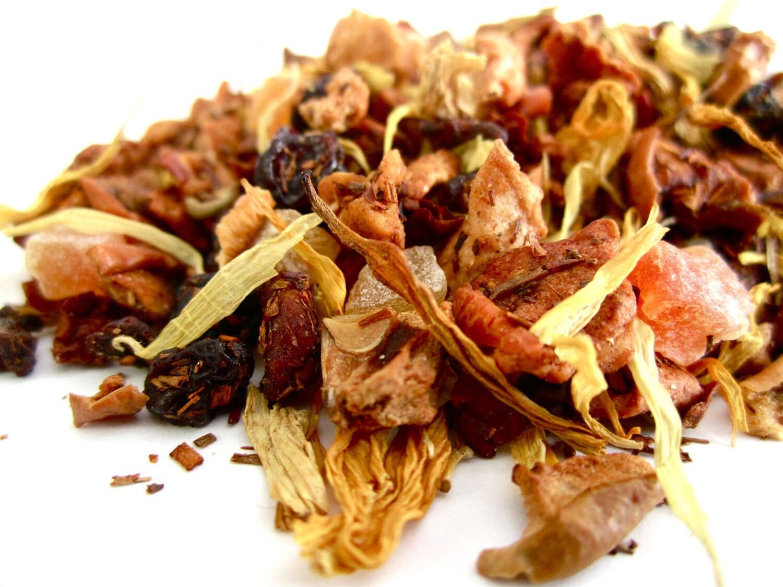 Tea - Yellow Peach - No.30 : 2oz - Organic Caffeine Free - Fruit Blend - TeaHoundsTeaCo