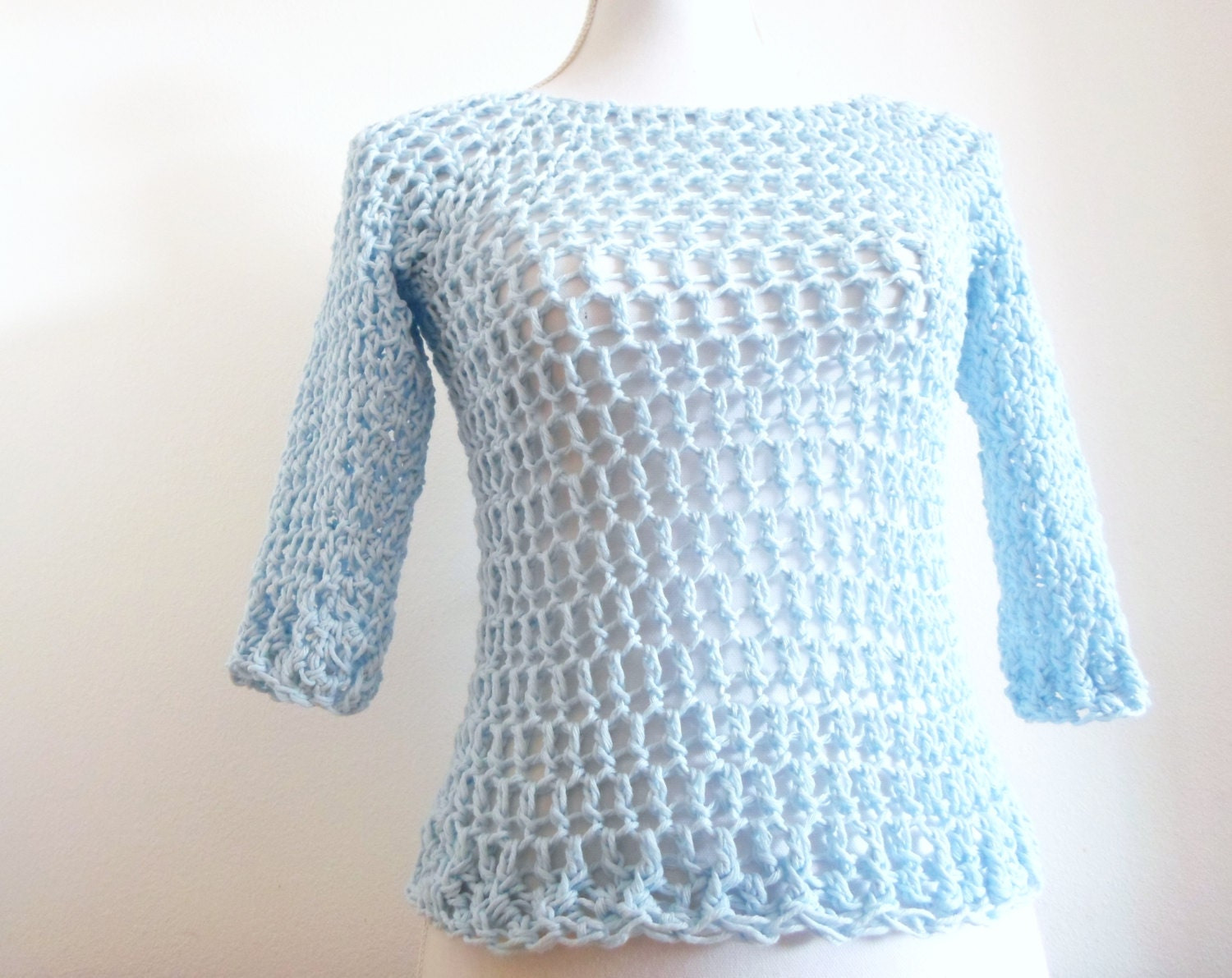 Fast & Easy Fashion Sweater crochet pdf pattern INSTANT DOWNLOAD