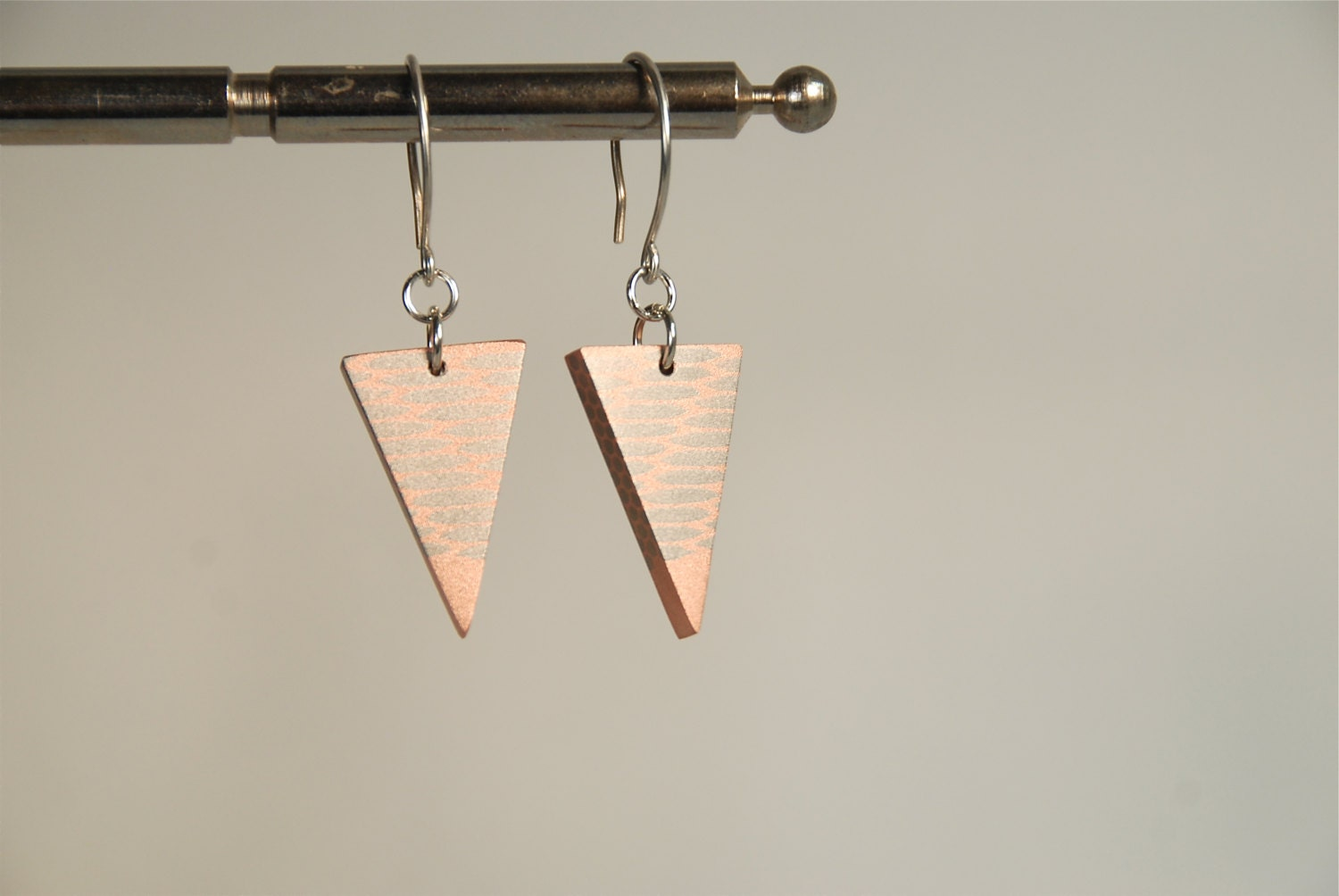Geometric, Triangle, Modern Design, Statement, Super Conductor, OOAK Earrings - ThePolkadotMagpie