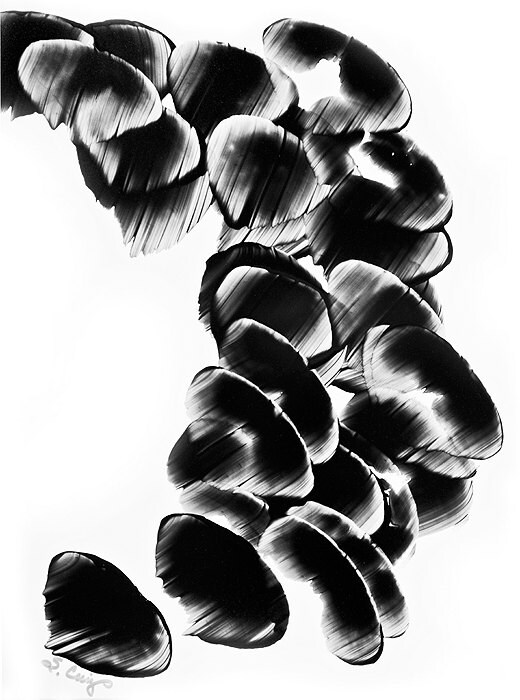 Contrast Paintings Black And White $125 Black And White Painting