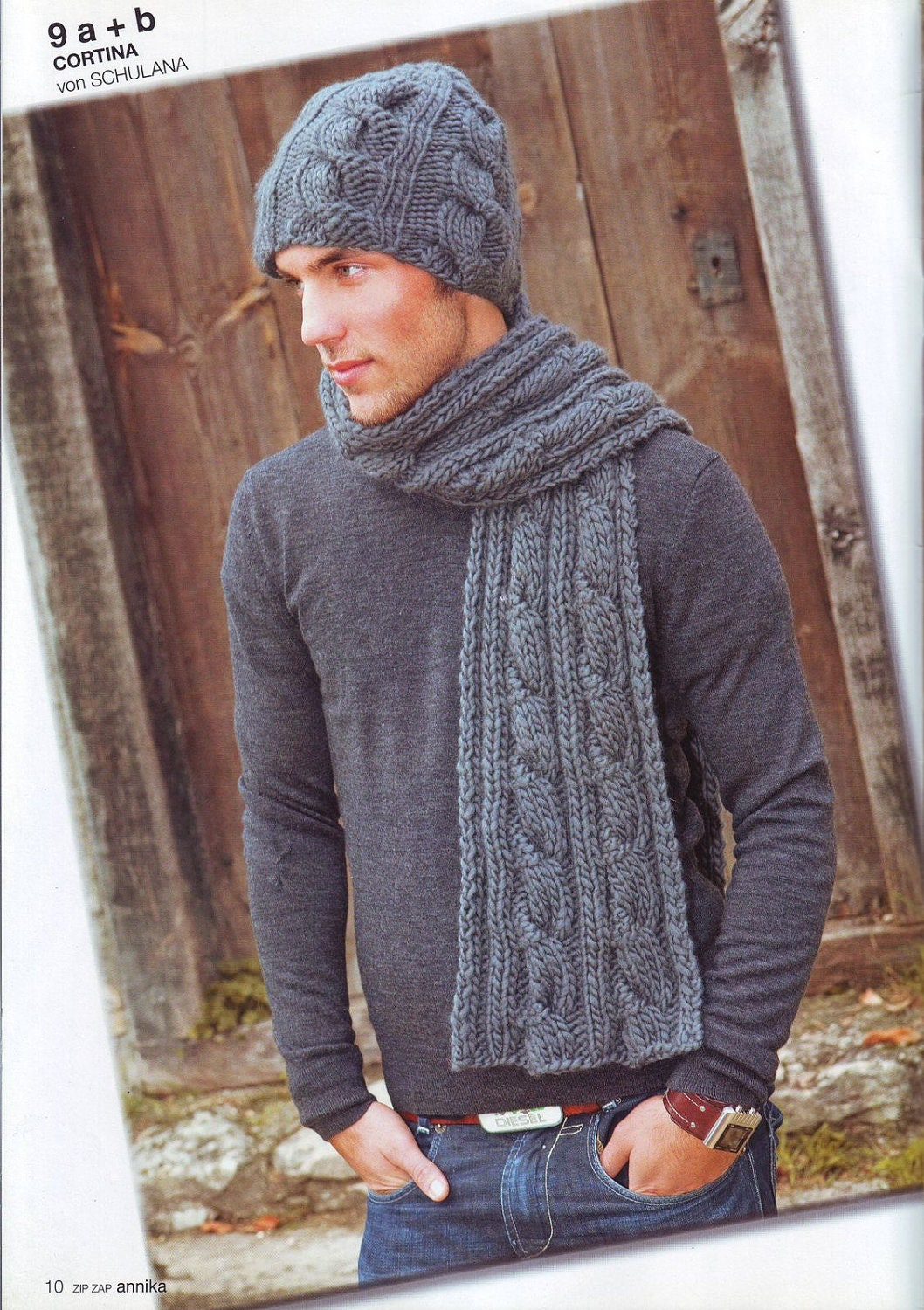 Knit Set men scarf and cap Set For Men Hand Knitted Scarves For Men Knitted Scarves For Sale