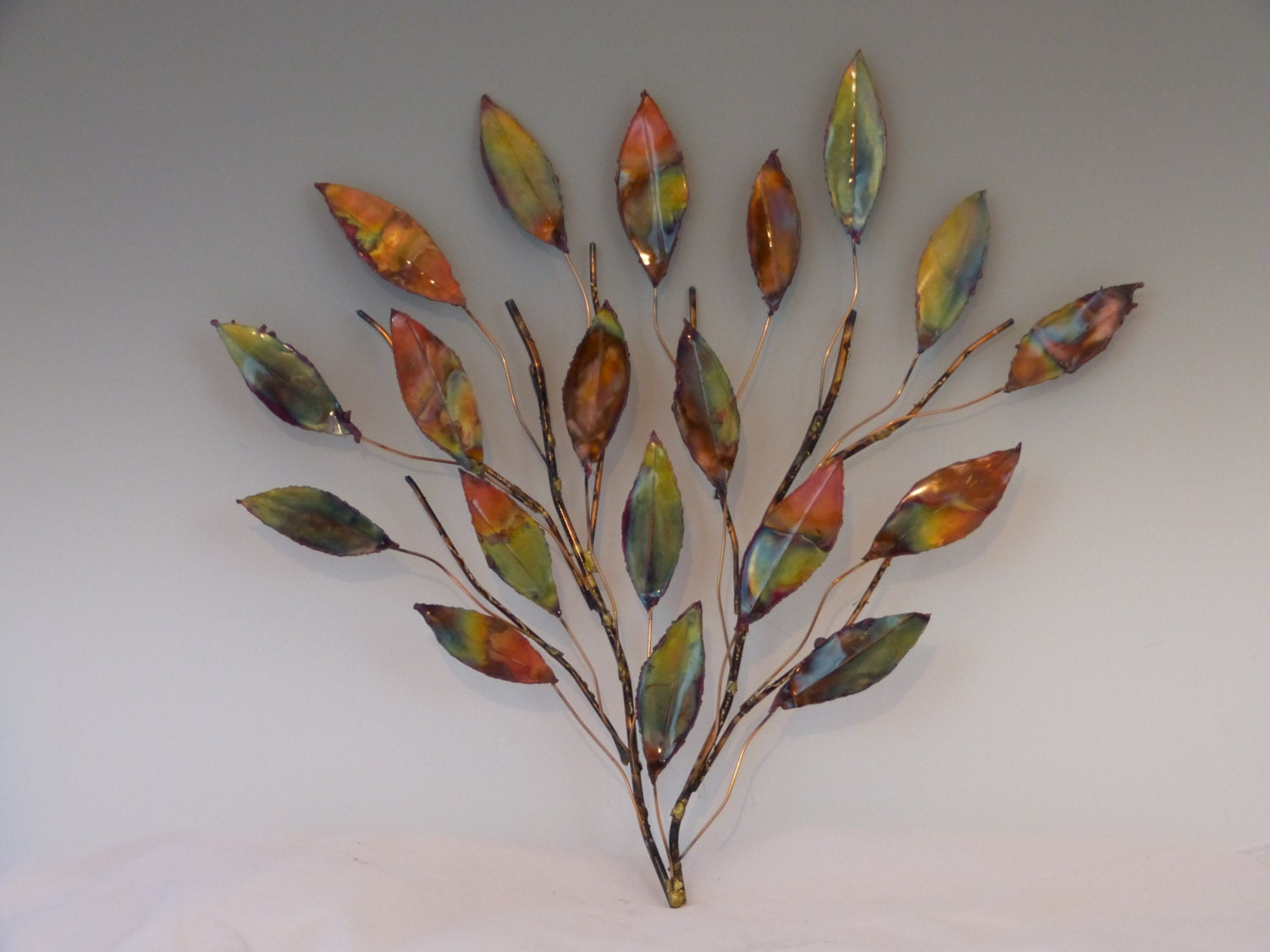 COPPER BRANCH SCULPTURE metal sculpture home by PoffSculptures