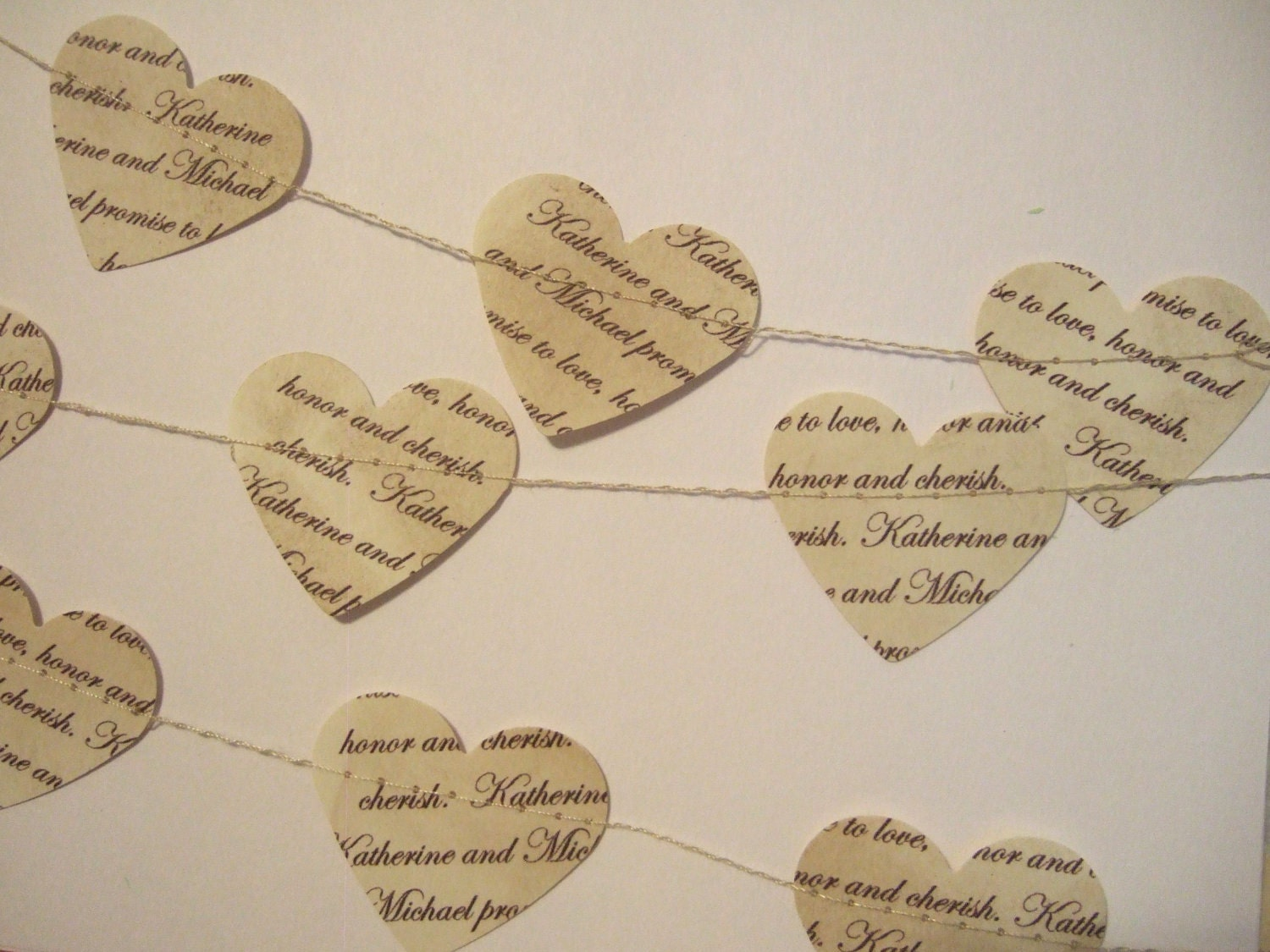 Custom Wedding Garland... Vintage Inspired