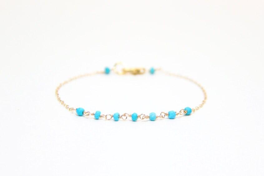 Linked Turquoise Bracelet
