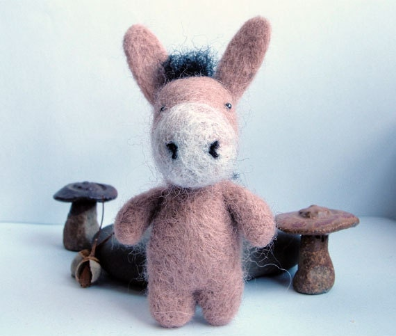 Needle felted donkey - RESERVED for Amy-Anne Williams