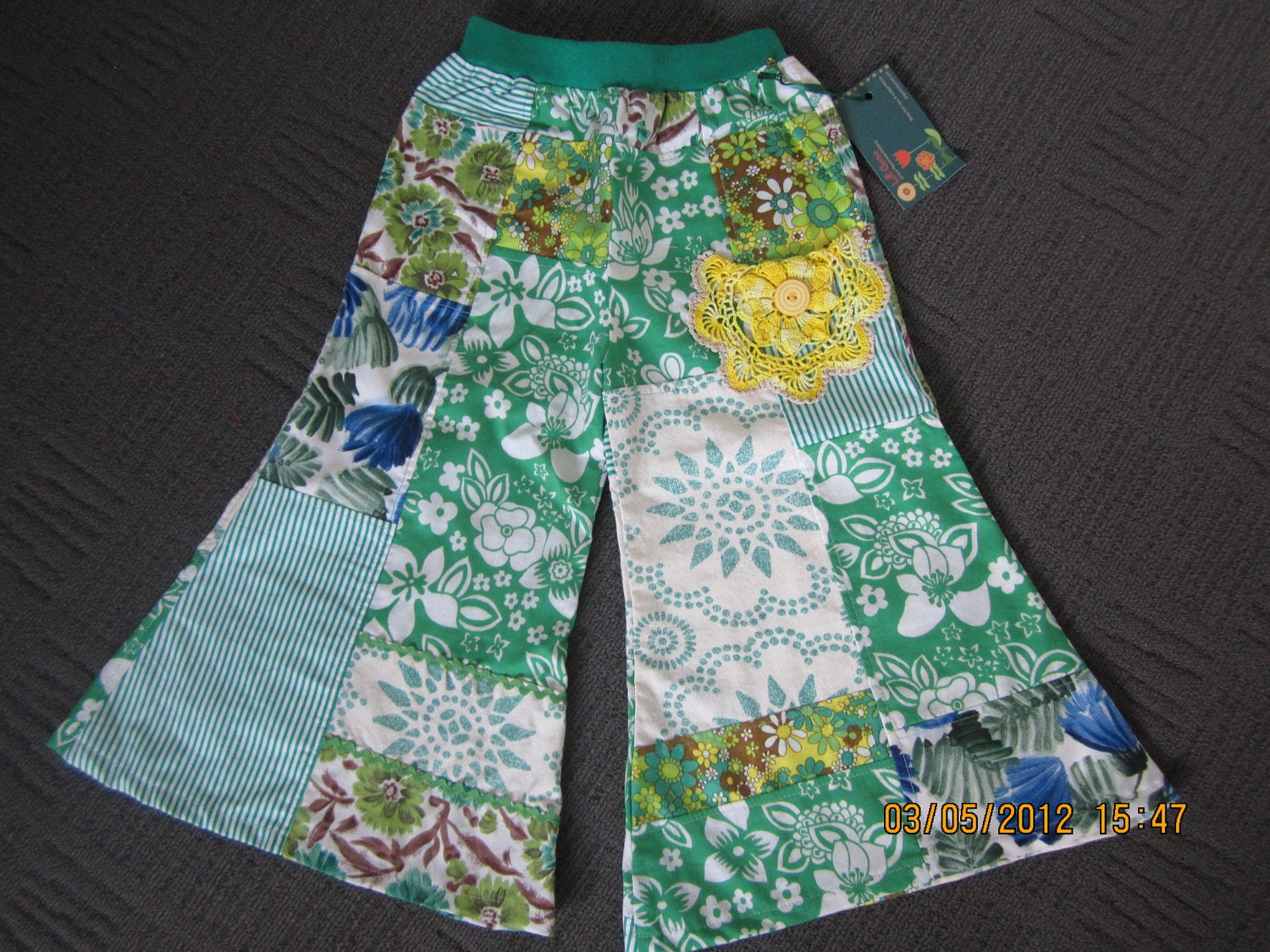 Funky kids patchwork flares-size 4