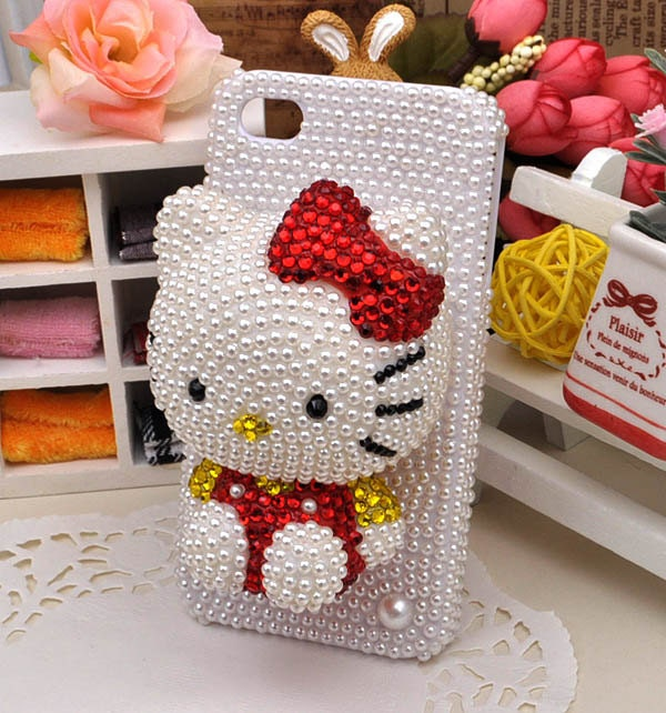3D Hello Kitty iphone case , iphone 4 case, iphone  4S case, Apple iphone case,Hello Kitty iphone 4 case