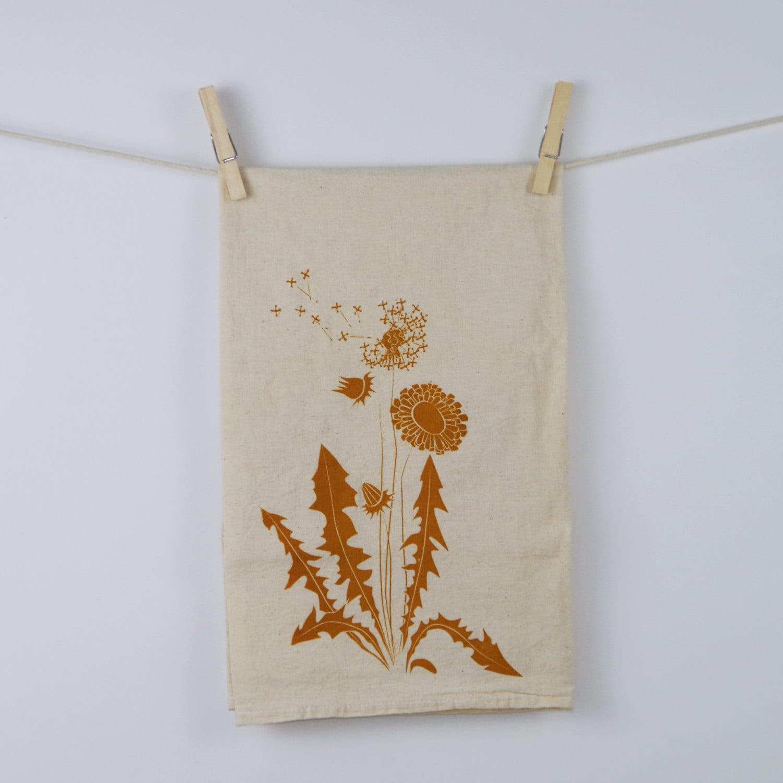 Dandelion Flour Sack Tea Towel - eleventyfive
