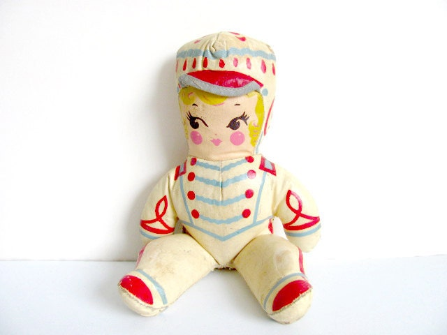 Majorette Oil Cloth Canvas Doll - WolfHouse