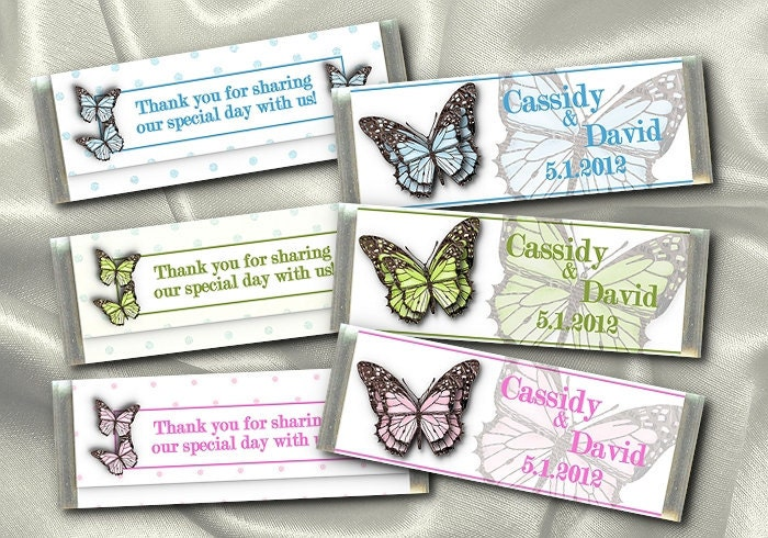 Hershey Candy Bar Wrappers Wedding Bridal Shower Anniversary Favors