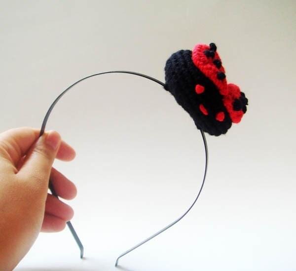 cute ladybug headband
