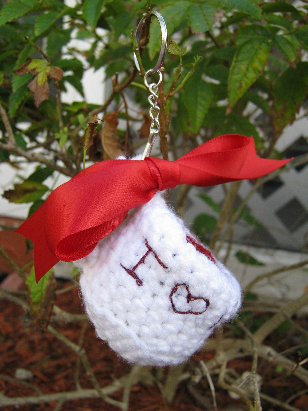 Amigurumi Keychain I Love Vamps Tea Cup by PinkFrog4U on Etsy from etsy.com