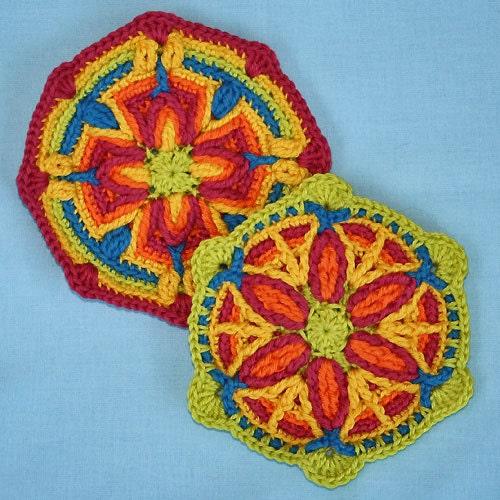2 Motifs in Overlay Crochet, Pattern, PDF