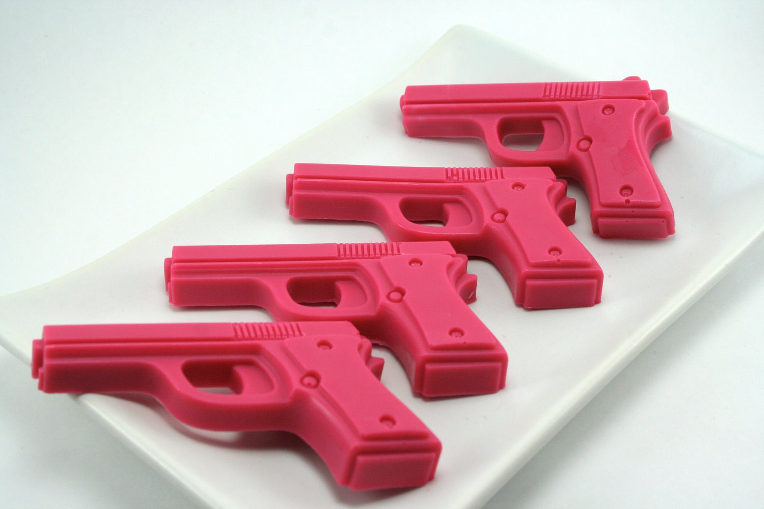 Annie Get Your Gun - 4 Pink Pistols -  Vegan Shea Butter Soap in Cotton Candy