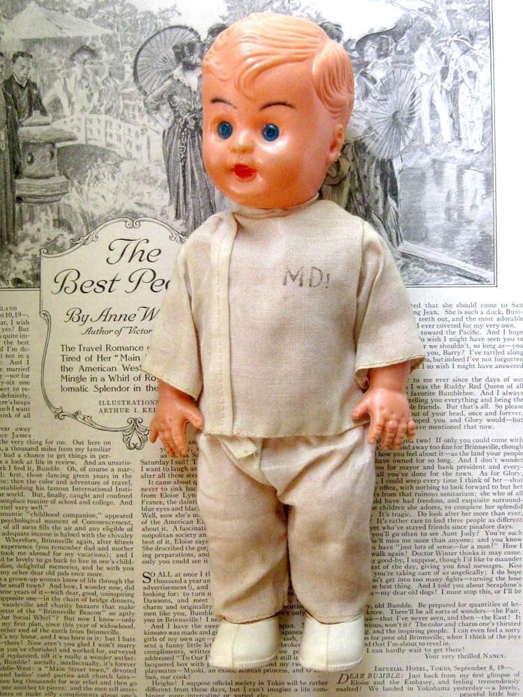 Vintage Plastic Doctor Doll