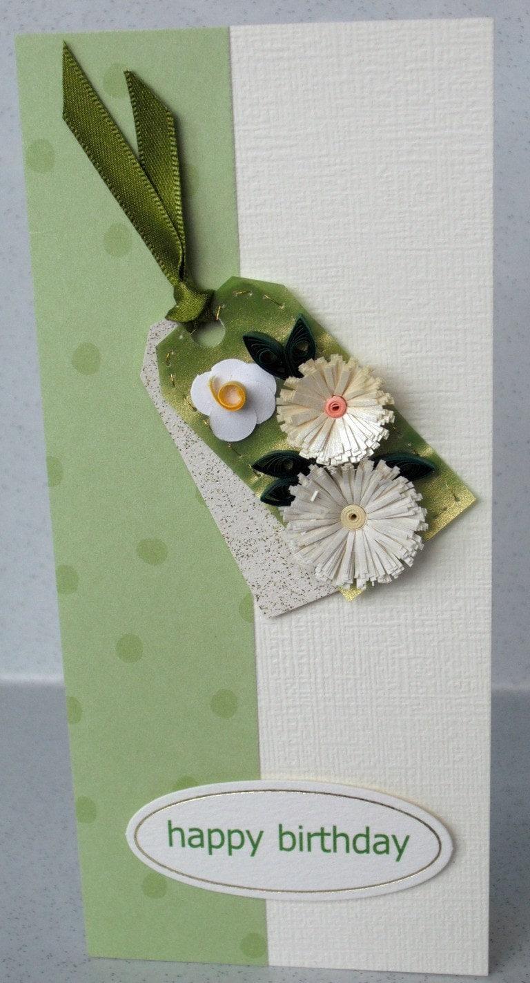 Ручной поздравительную открытку рюш бумажные цветы покрытый перьями