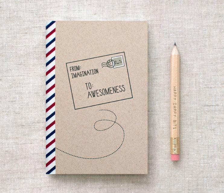 Mini Sketchbook - Postal - by Happy Dappy Bits