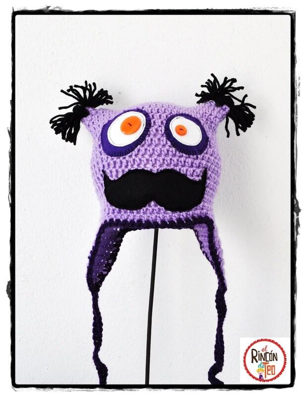 Crochet Hat Mr. Moustaches L