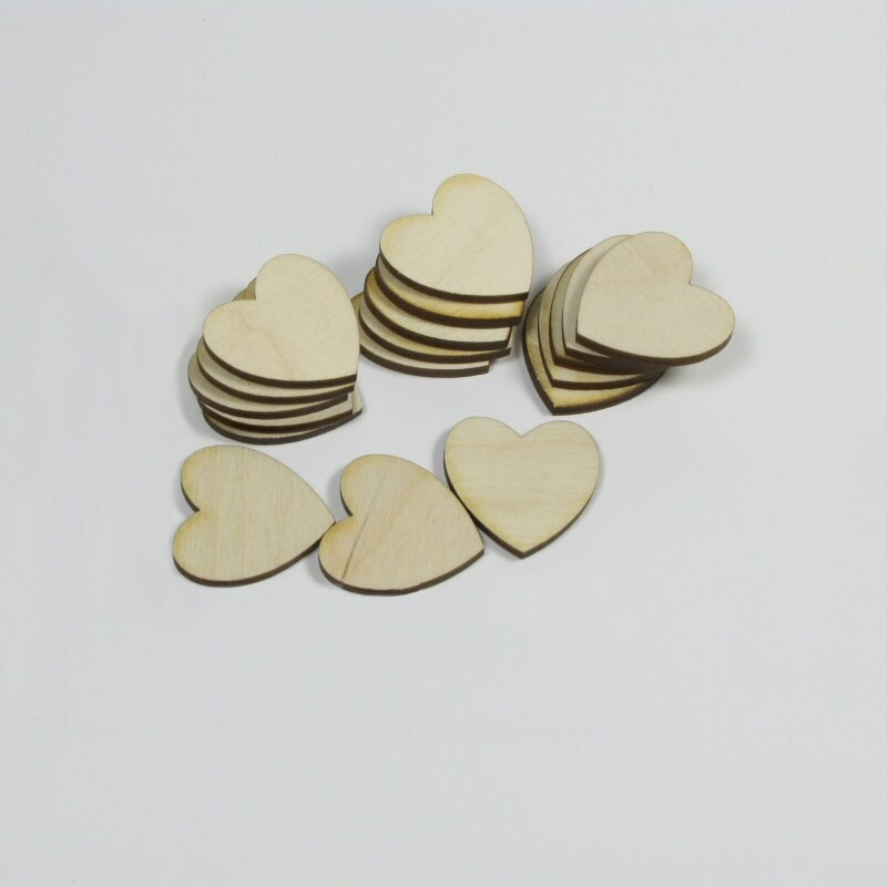 Wooden Hearts for Crafts Scrapbooking Charms Decorating -- FREE SHIPPING