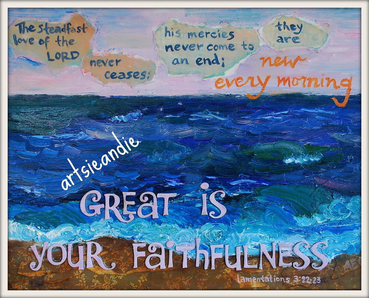 Faithfulness- Oil painting print