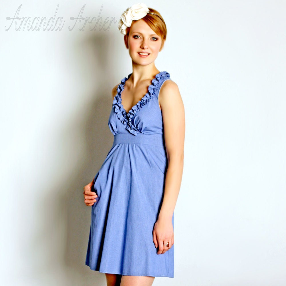 Bella Cotton Dress, Beach Blue, more colors available