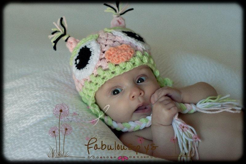 Crochet Baby Hat - Crochet Baby Owl Hat