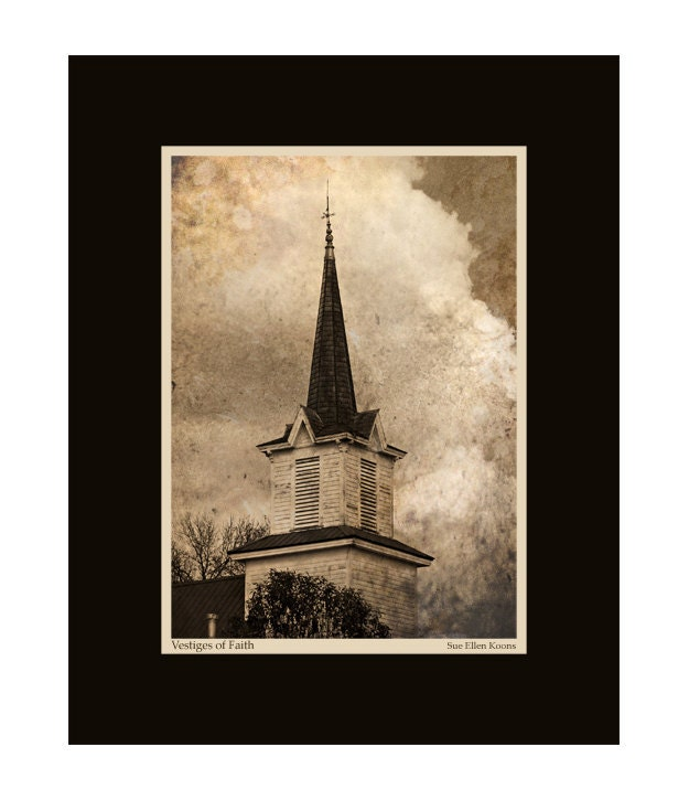 Vestiges of Faith, Abandoned Church 8x10 Print