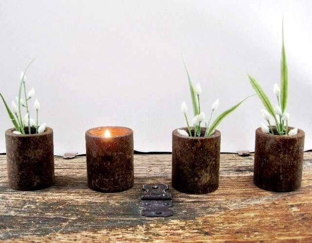 Tea Light Holders Rustic Home Decor - SeaLoveAndSalt