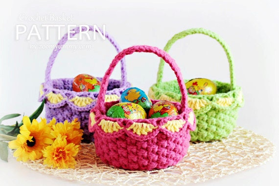 Crochet Pattern Crochet Baskets