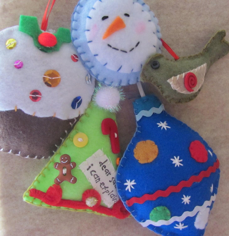 Веселые праздничные рождественские украшения Felt X 5