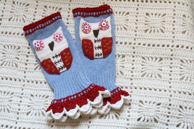 Wool Felted Fingerless Gloves