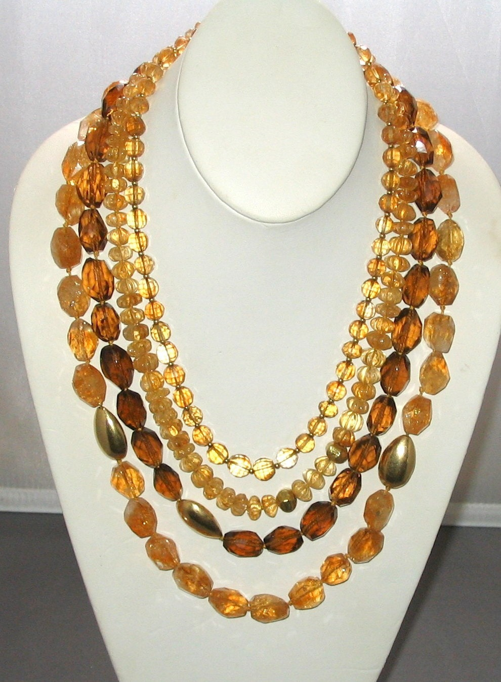 Citrine & gold collar
