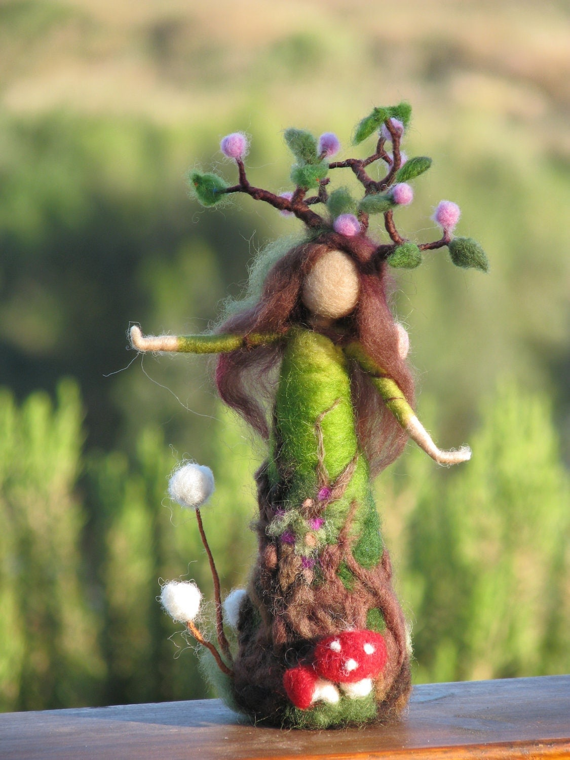 Needle felted tree guardian waldorf inspired