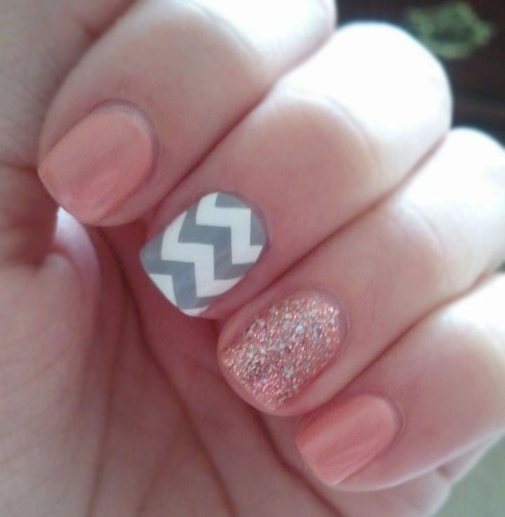 Nail Idea: Chevron and Sparkle