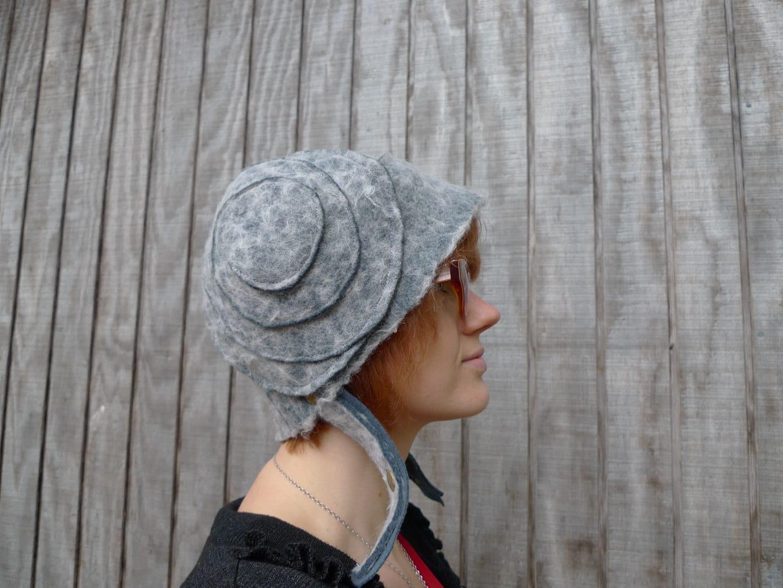 meerwiibli little gray felt leia hat FREE SHIPPING - meerwiibli