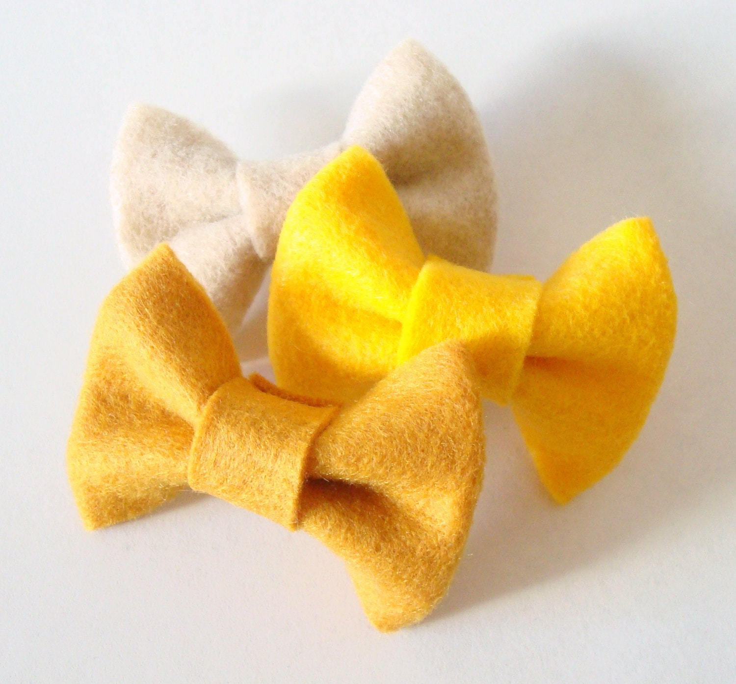 Fall Fashion Felt Hair Bow Set Felt Accessories