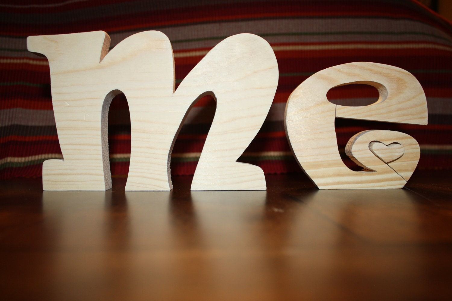 UNFINISHED Valentine ME wood letters