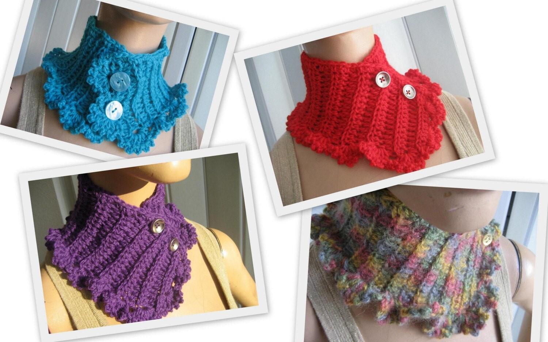 Cats-Rockin-Crochet Fibre Artist.: Bullion Stitch Neckwarmer